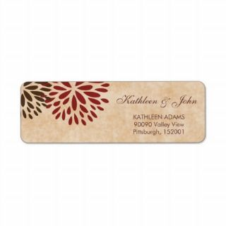 cute vintage flowers wedding address labels custom