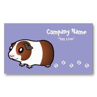 Cartoon Guinea Pig (chocolate dutch) business cards by SugarVsSpice
