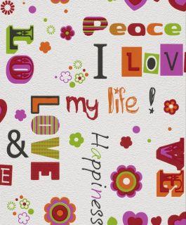 Wohnen Rasch KidsClub Love Peace Happiness 478402 2014