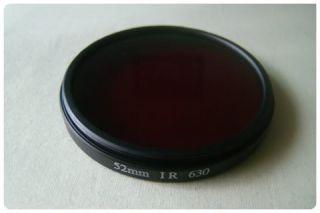 52mm IR 630nm Filter Infrared Infra Red Nikon Pentax