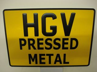 Pressed square Metal Number Plate YELLOW x1 HGV Tractor Truck Trailer