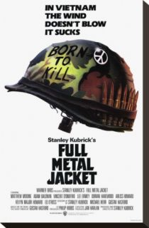 Full Metal Jacket Stretched Canvas Print