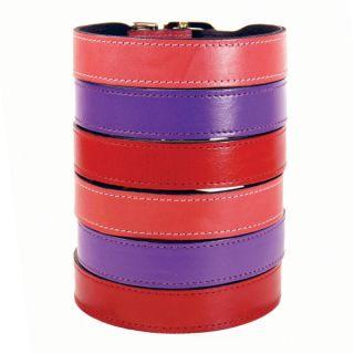 Hartman & Rose Italian Leather Dog Collar   Pastels