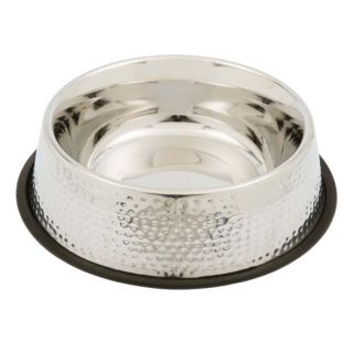 PetRageous Designs Dorado Hammered Finish Pet Bowl   Stainless Steel   Bowls & Feeding Accessories