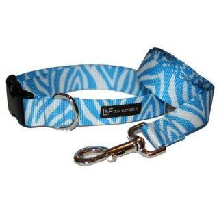 Lola & Foxy Nylon Dog Collars   Zebra   Blue