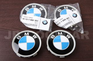 x4 GENUINE BMW Wheel Center Caps P/N 36136768640 70mm