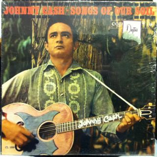 JOHNNY CASH songs of our soil LP VG+ CL 1339 Vinyl 1959 in Shrink Mono