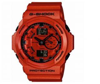 CASIO G SHOCK GA 150A 4AJF NEW Mens Orange limited Rare item Red Free