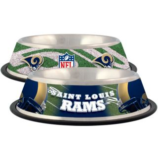 St. Louis Rams Stainless Steel Pet Bowl   Team Shop   Dog