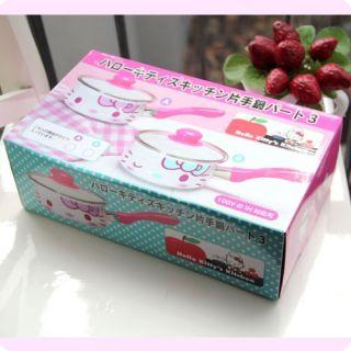 Neu Sanrio Hello Kitty Kochtopf mit Deckel So Cute C010F