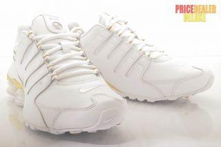 Nike Shox Nz Eu white/gold 11 Schuh Neu