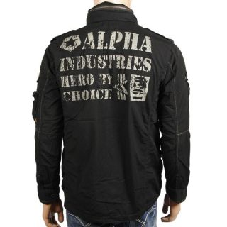 ALPHA Industries Arlington Jacke black Jacket Jacke Kapuze Vintage