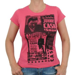 Johnny Cash   Show Band Girlie Shirt, pink