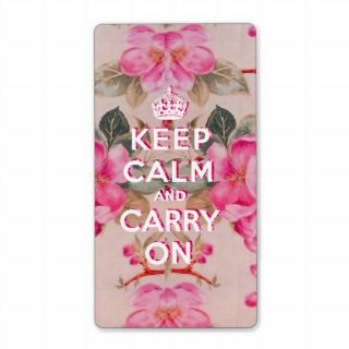 Girly keep calm..Vintage pink elegant floral roses Shipping Labels