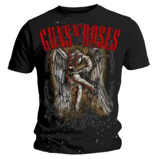 OFFICIAL T Shirt GUNS N ROSES Skull SKETCHED Angel L