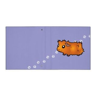Cartoon Guinea Pig (red) binders by SugarVsSpice