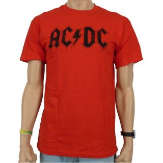 AC/DC   80s Band T Shirt, rot