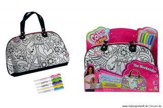 Color me mine schicke Handtasche Tasche zum Selber bemalen + Stifte