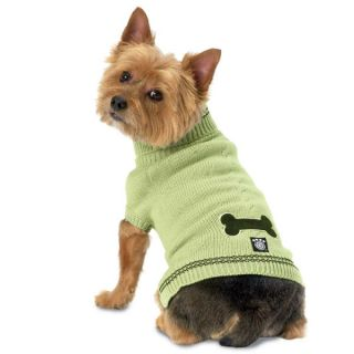 PetRageous Designs Cali's Cable Dog Sweater   Green
