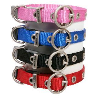 Top Paw Nylon Dog Collar   Red, Blue, Pink, Black