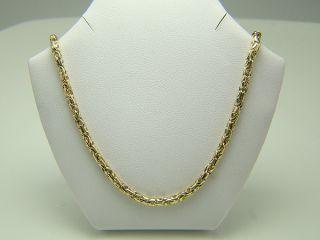 585 gelb GOLD KETTE KÖNIGS KETTE Halskette 42,5 cm Damen Herren