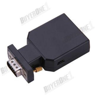 Mini VGA zu HDMI Adapter Wechsler Konverter Kabel mit Upskaler Monitor