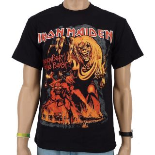 Iron Maiden   Number Of The Beast Graphic Band T Shirt,