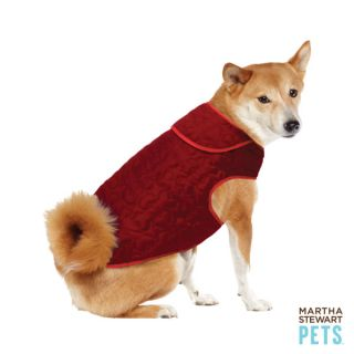 Martha Stewart Pets™ Quilted Barn Coat   Red   Martha Stewart Pets   Dog