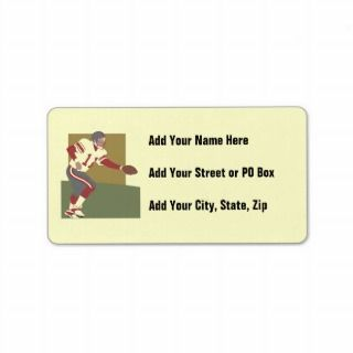 Football Player Tshirts and Gifts Personalized Address Label