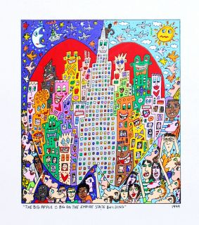 James Rizzi   Big on The Empire State   FL/Leinwand