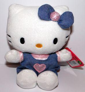 Hello Kitty Sanrio Stofftier Plüsch Plüschtier Cat Jeans Hose ca. 16
