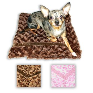 Hip Doggie Super Soft Mink Fur Trundle Dog Blankets