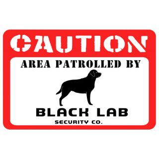 Bungalow Printed Caution Black Lab Pet Mat   Dog   Boutique