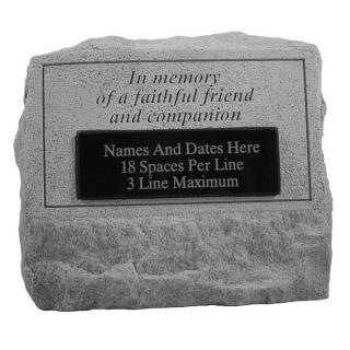 In Memory Of a FaithfulPersonalized Pet Headstone   Pet Memorial   Cat