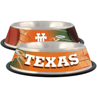 Texas Longhorns Stainless Steel Pet Bowl   Team Shop   Dog