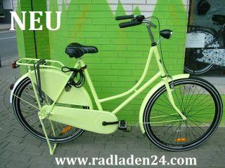 28 ZOLL Damen HOLLANDRAD Fahrrad GRÜN Omafiets NEU RH 57cm
