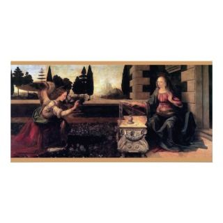 Leonardo Da Vinci Annunciation Photo Greeting Card