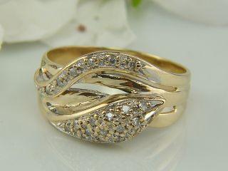 SCHLANGEN RING mit 0,21 Karat Diamant / 585 gelb GOLD