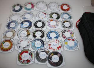 24 PSP Spiele und 4 UMD Videos mit defekten UMD Huellen fuer Bastler