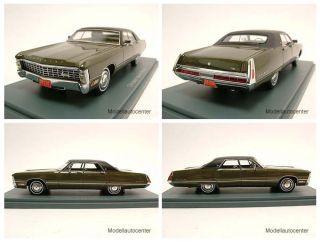Chrysler Imperial Sedan 1971 oliv metallic Modellauto 1 43 Neo Scale