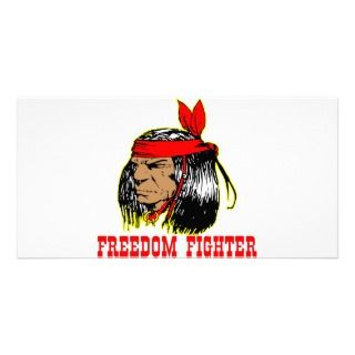 Native American Indian Freedom Fighter Customized Photo Card