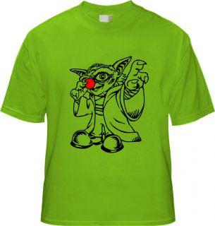 Kinder T shirt STAR WARS CLOWN CLONE WARS YODA NEU