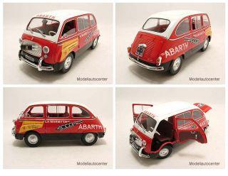 Fiat 600 D Multipla ABARTH rot/weiß, Modellauto 118