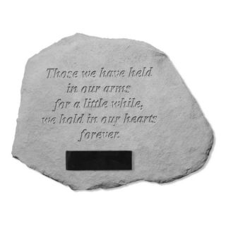 Those we have held in our armsPersonalized Pet Memorial Stone   Pet Memorial   Cat
