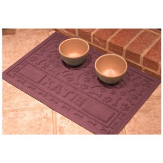 "Bungalow Aqua Shield ""Paws and Bones"" Personalized Pet Mat   Feeding Mats   Bowls & Feeding Accessories"
