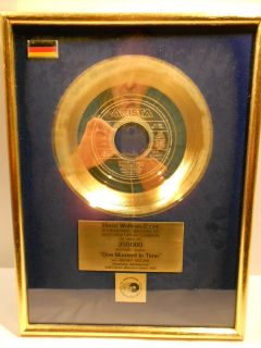 Whitney Houston One moment in Time German Gold Music Award goldene
