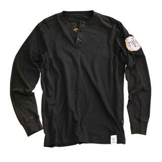 Alpha Industries Arctic Henley Langarm T Shirt Biker Longsleeve black