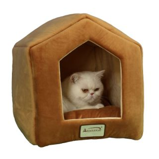 Armarkat Little House Pet Bed   Brown