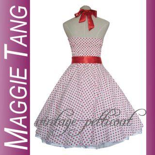 50e Jahre Tanz Kleid zum Petticoat Rockabilly 34 42