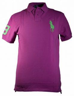 Ralph Lauren Big Pony Polo Shirt Slim Fit Pink 2012